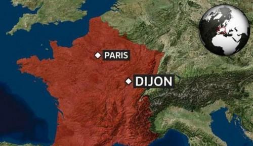 Dijon-, france map
