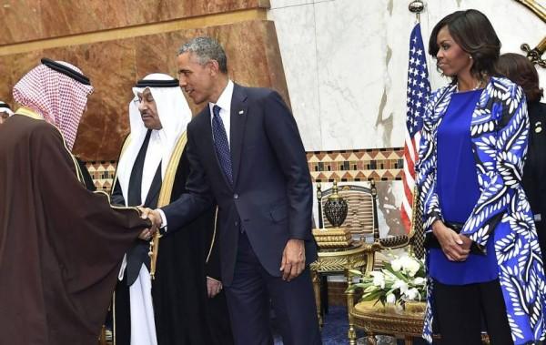 michelle obama in saudi
