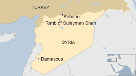 mausoleum complex of Suleyman Shah,  map