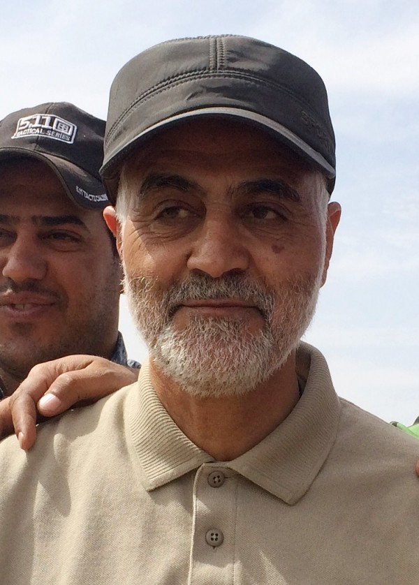 "Qassem Suleimani , the head of Iran's Revolutionary Guards elite the Quds Force, has been described by the intelligence community as the ""most powerful operative in the Middle East today and the sole Iranian authority on Iraq."" He has been organizing Iraqi forces and have become the de facto leader of Iraqi Shiite militias that are the backbone of the fight. He was reportedly injured earlier this year in Samara and was flown for treatment in Tehran but returned earlier this month to lead the battle for retaking Tikrit , Saddam Hussein's hometown, from Islamic StateIranian Revolutionary Guard Commander Qassem Seleimani stands at the frontline during offensive operations against Islamic State militants in the town of Tal Ksaiba in Salahuddin province March 8, 2015.   REUTERS/Stringer"