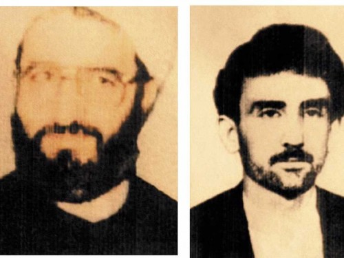 Moshen Rabbani and another original suspect in the AMIA bombing, Ahmad Reza Ashgari, from a 2006 handout released by an Argentine court.