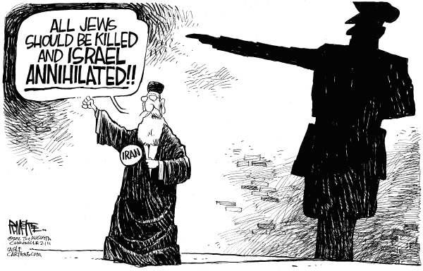 iran and nazis  cartoon