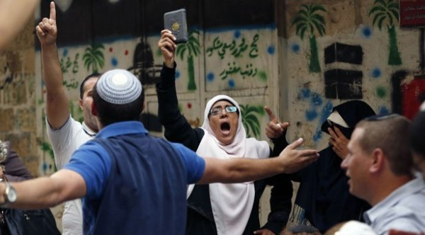 Israeli forces clash with Palestinians at Al-Aqsa mosque. September 13, 2015 -