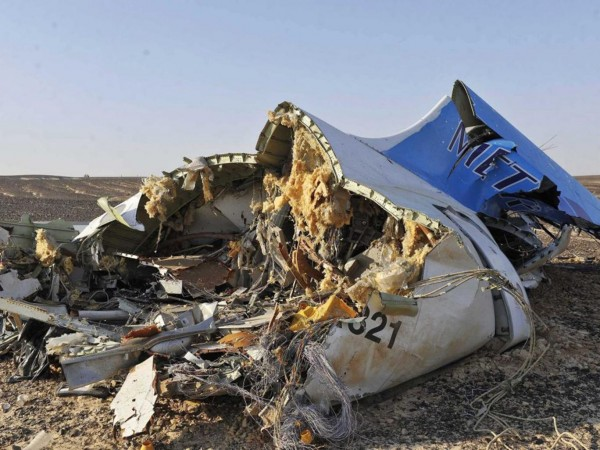 Flight 7K9268 : Wreckage of Russian plane that crashed over the Sinai Peninsula