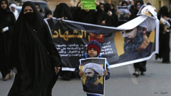 protest in Bahrain over Nimr's execution