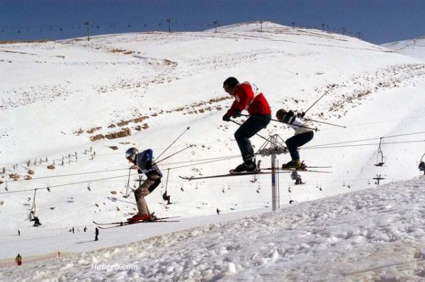 The snowy peaks of Mount Lebanon with their 80 Km ( 50 miles) of sun-drenched skiing trails are very popular . Lebanon is the only country in the Arab world that offers skiing and related winter sports activities as well as wonderful beaches allowing you to go to the snow and sand in the same day