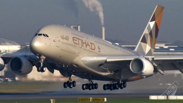 """Etihad A380 plane . 17 million Passengers carried last year on this Abu Dhabi-based airline. Launched in 2003, Etihad once called itself the """"fastest growing airline in the history of commercial aviation."""""""