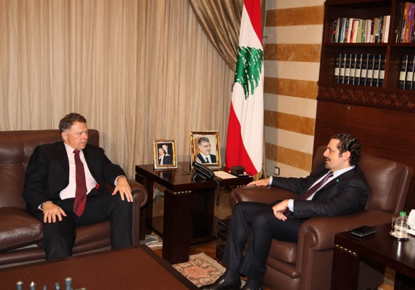 MP Saad Hariri with US Charge D'Affaires Richard Jones( file photo