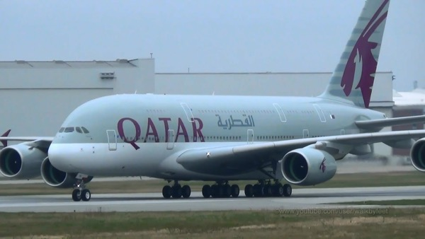 Qatar Airways A380 plane. The airline witnessed Sixfold growth over the past decade