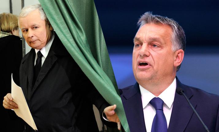 The PiS (Law and Justice) leader, Jarosław Kaczyński, and the Hungarian Prime Minister, Viktor Orban