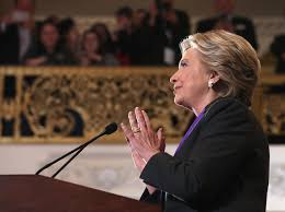 Hillary Clinton, seen here delivering her concession speech in New York City on November 9, has over 2 million more votes than Donald Trump in the national popular vote. She lost the election under the U.S. Electoral College system.