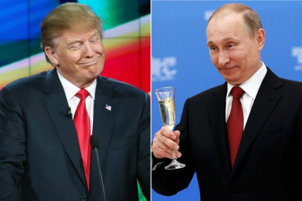 """FBI Director James B. Comey and Director of National Intelligence James R. Clapper Jr. agreed with a CIA assessment that Putin's Russia intervened in the 2016 election in part to help Donald Trump (L) win the White House. In addition to the goal of helping elect Trump, Vladimir Putin (R) aimed to undermine confidence in the U.S. electoral system, intelligence officials have told lawmakers. Putin has something he is holding over Donald Trump's head. And it is bad, """" Joe Scarborough of MSNBC claimed on Jan 19"""