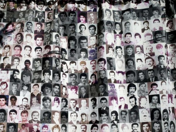 Portraits of some of the thousands who have gone missing in Lebanon