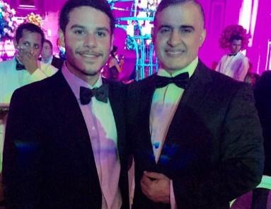 Yibram Saab  and his father Tarek William Saab in a file photo