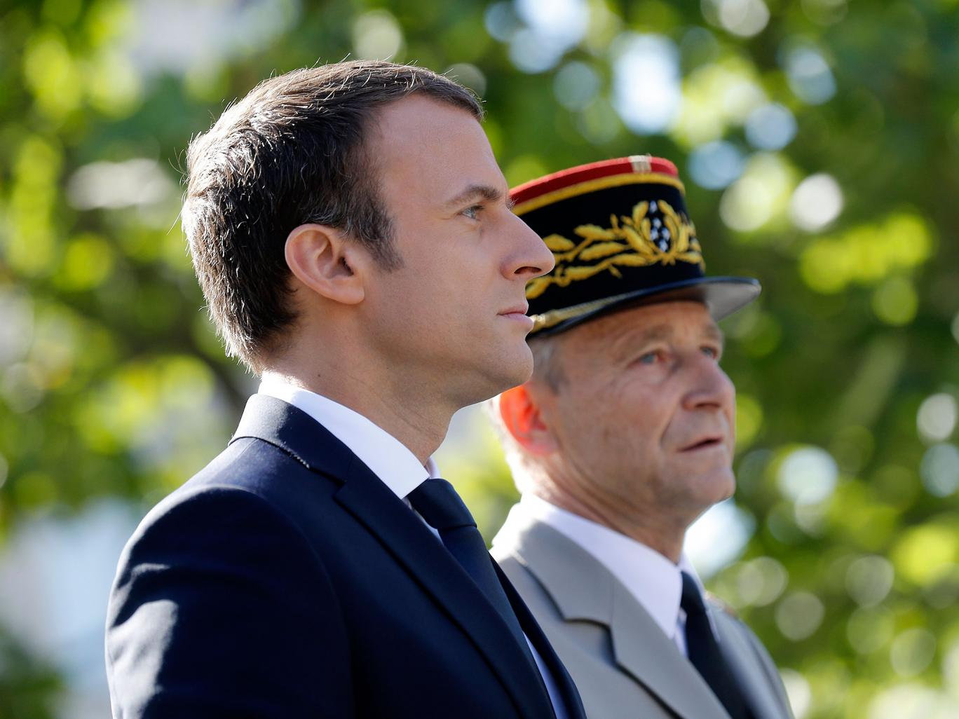 Macron w Chief of the Defence Staff, French Army General Pierre de Villiers