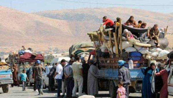 syrian refugees leave arsal Lebanon