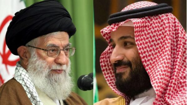 Prince Mohammed bin Salman (MbS), right, warned against trying to appease Ayatollah Ali Khamenei (L) , who he described as the new Hitler. In Saudi Arabia there's a move, from the bottom up and from the top down, to get past 1979 and birth a different social future. In Iran, there's a move from bottom up by many youth to get past 1979, but regime hard-liners  led by Khamanei want to crush them from the top down.