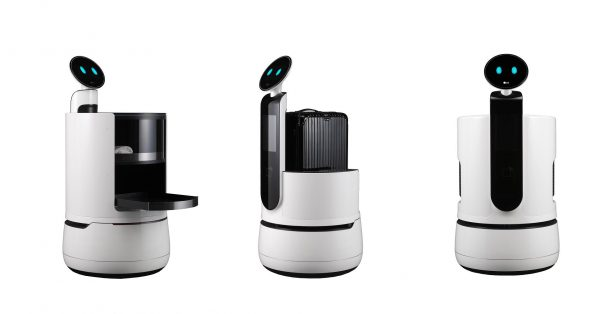 Source: LG Electronics The three new concept robots from LG Electronics are aimed at the services industry, in areas like hotels, airports and supermarkets.