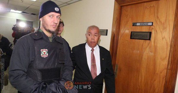 """Nader Mohamad Farhat is shown after he was arrested in Paraguay """"for his alleged role in a $1.3 million drug money laundering scheme."""" Farhat is alleged to be a member of the Business Affairs Component, the branch of Hezbollah's External Security Organization in charge of running overseas illicit finance and drug trafficking operations, according to Foreign Policy."""