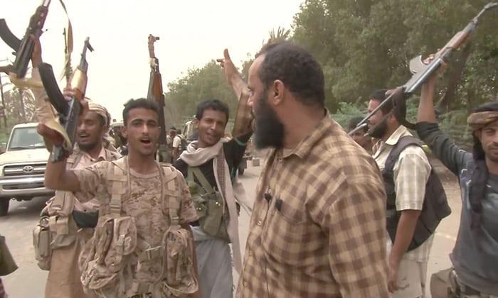 saudi backed forces free Hodeidah airort