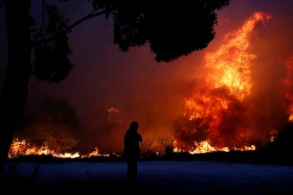 wildfire greece