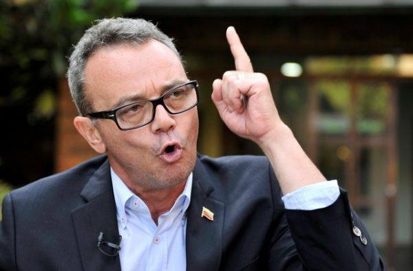 Venezuelan opposition activist Salvatore Lucchese speaks during an interview with Reuters in Bogota, Colombia August 6, 2018. REUTERS/Carlos Julio Martinez