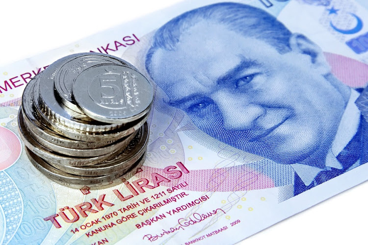 TURKISH LIRA FELL TO RECORD LOWS AGAINST THE US DOLLAR