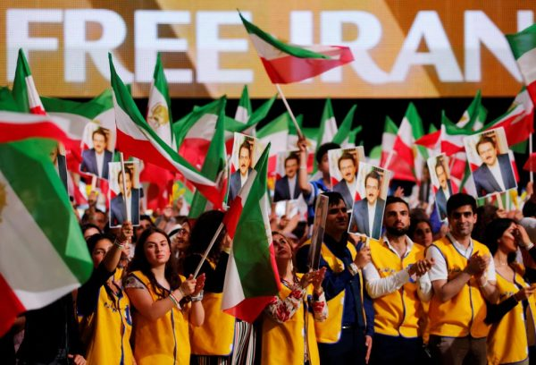 An Iranian opposition group's rally in June. The French government said that it had foiled a bomb plot that targeted the gathering.CreditCreditRegis Duvignau/Reuters