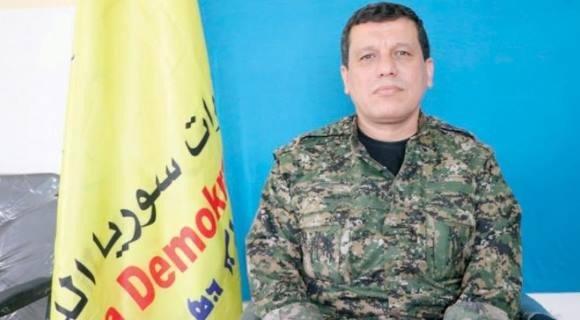 The Commander-in-Chief of the Syrian Democratic Forces Mazloum Abdi. (Asharq Al-Awsat)