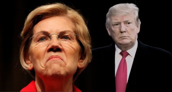 Sen. Elizabeth Warren, D-Mass. (L) , became the first major 2020 Democratic candidate to call for President Trump's impeachment