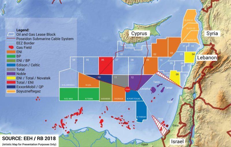 maritime border lebanon israel syria cyprus