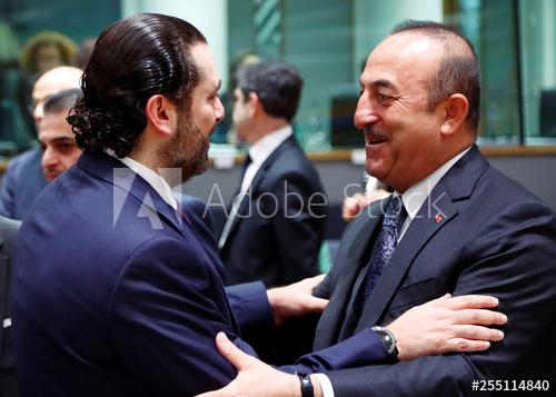 Cavusoglu Hariri
