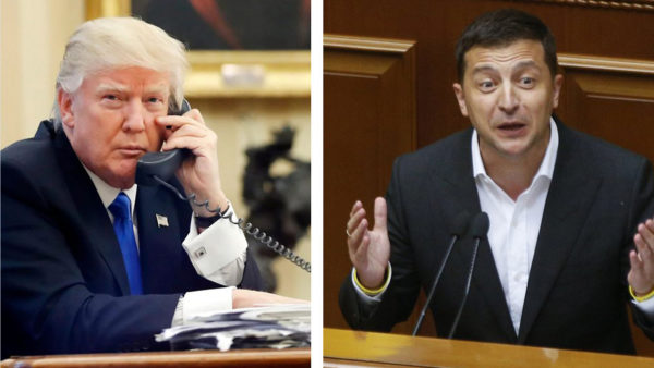 President Donald Trump and President Volodymyr Zelenskiy's phone call on July 25 has caused speculation that the president urged a foreign leader to investigate a political opponent, Joe Biden. (File photo)